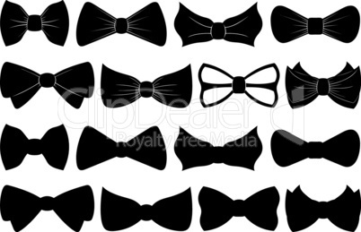 Set of different bow ties