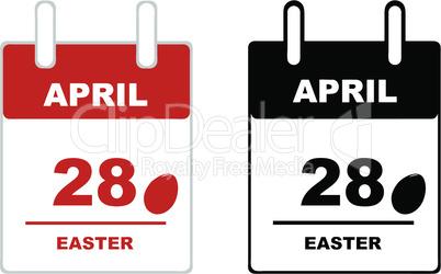 2019 Easter calendar