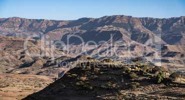 landscape in the highlands of Lalibela, Ethiopia