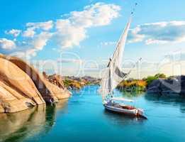 River Nile in Aswan
