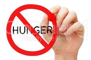 Hunger Prohibition Sign Poverty Concept