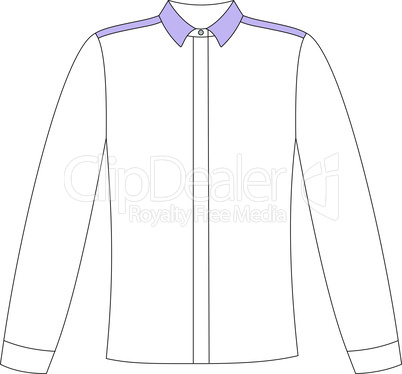 Fashion women technical sketch of blouse in vector graphic