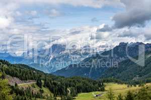 Views of the Val di Fassa in the Dolomites, Trentino Alto Adige, Italy
