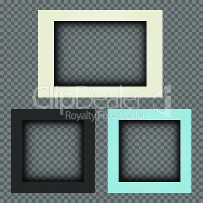 thick photo frames transparent background