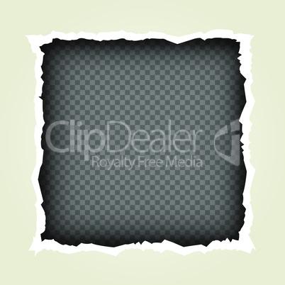 torn paper frame transparent background