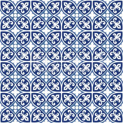 Blue portuguese tiles pattern