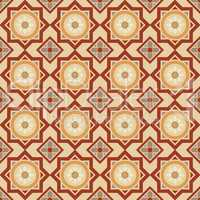 Arabic floral tiles pattern
