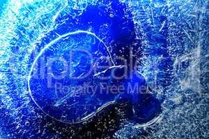 Frozen Water Background
