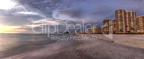 Dusk sky over South Marco Island Beach at Sunset