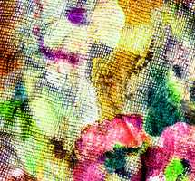 Texture of colorful piece of textile fabric.