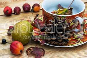 autumn pear rosehip