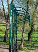 metal horizontal bar for sports in the park