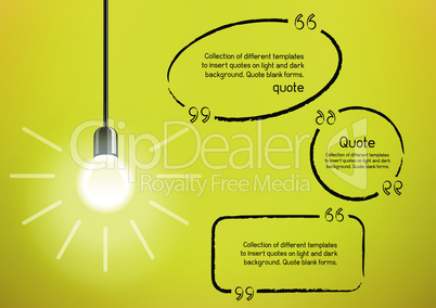 light bulb and idea quote