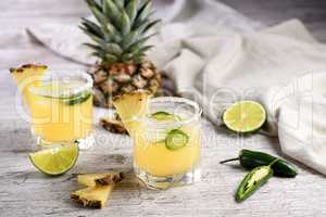Pineapple Margarita with Jalapeno