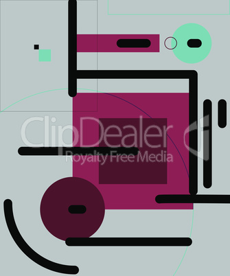 Modern geometric abstract background. Pattern with colored elements.
