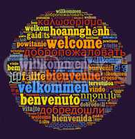 Word Welcome in different languages