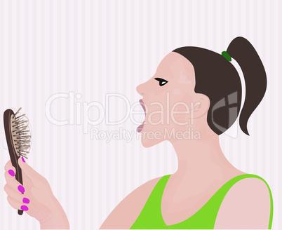 Hair loss. Vector illustration