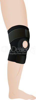 Bandage on an aching knee