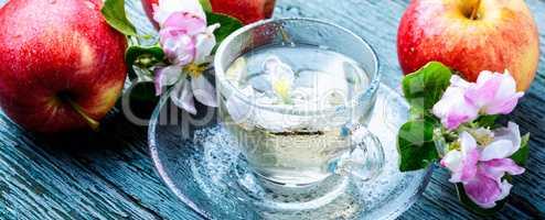 Hot drink of apple tea