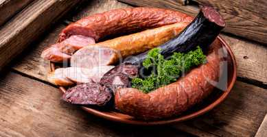 Assortment of salami