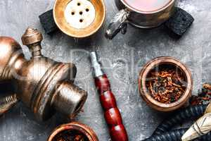 East shisha hookah with drink