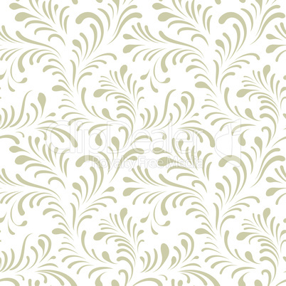 Floral seamless pattern with abstract shaped leaves. Artistic drawn leaf background
