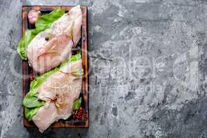 Fresh chicken meat