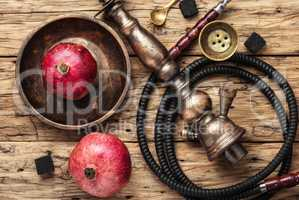 Hookah with pomegranate flavor