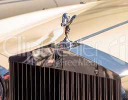 Cream 1985 Rolls Royce Corniche Drop Head at the 32nd Annual Nap