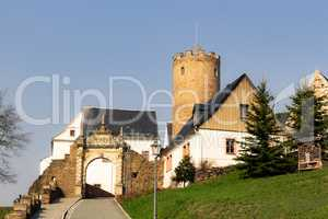Castle Scharfenstein in the Ore Mountains