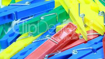 set of plastic clothespin