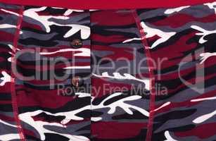 Camouflage Printed Shorts at day