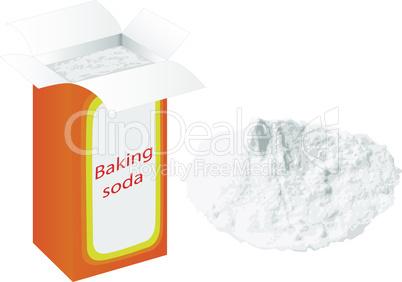 Baking soda in a paper bag