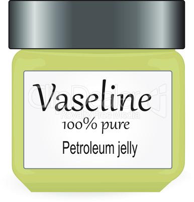 Bank of Vaseline vector illustration