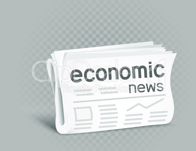 economic newspaper icon