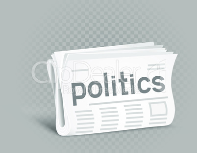 political newspaper icon