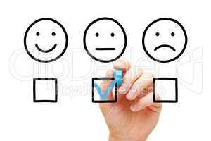 Average Customer Feedback Survey Concept