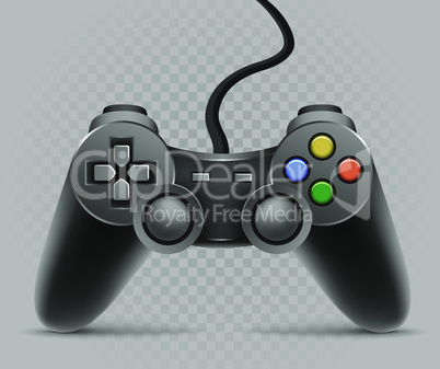 gamepad on gray transparent background