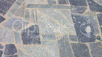 granite floor at dry sunny day