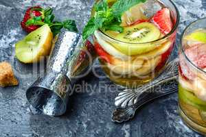 Summer alcoholic fruity cocktails