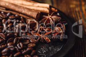 Coffee Beans with Spices.