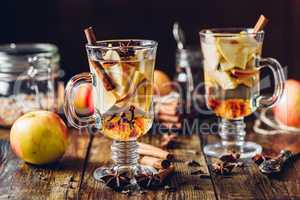 Hot apple beverages