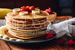 Homemade Pancakes with Fruits