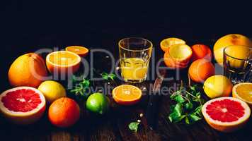 Fresh Citrus Juice in Glass.