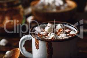 Mug of Cocoa with Marshmallow.