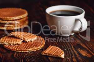 Dutch Waffles with Coffee.