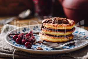 Stack of Quark Pancakes with Cherry