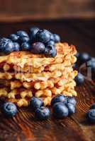 Stack of Waffles with Blueberry.