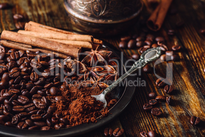 Coffee with Cinnamon and Star Anise.