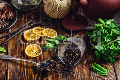 Dry Tea with Mint and Lemon